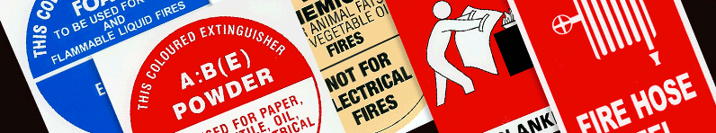 Various Fire Safety Signs